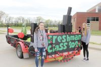 LHS classes present class floats during Homecoming WeekLawrenceville High School held its Homecoming last week and on April 23, a reverse Homecoming parade was held where each class presented its class float to the public. Visitors were invited to drive-through the LHS student parking lot to view the freshmen, sophomore and junior floats while the senior float was displayed at Ed Loeb Field. Those representing the freshmen class at the float during the event are, from left, Maya Mullins and Serena Buchanan. Crystal Wimberly | Daily Record