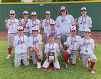 Lawrence County Cal Ripken's 12-year-old all-star team began play in the Ohio Valley Regional in Lexington, Ky., on Thursday. The Illinois State Champions are one of 12 teams in the field as a result of their state title victory at Mattoon July 9-12. Team members are: (front L-R) Alex Schneider, Keegan Liston, Jaxon Kiser, Marcus Davis and Brody Wattles. In back are: (L-R) Aiden Decker, Levi McCullough, Logan Rodrick, Carter Davis, Hudson Meek, Jeryn Tarr and Zadyn Loudermilk. Not pictured are coaches John Wattles, Chauncey Rodrick and Kyle Meek. The Ohio Valley Regional runs through Sunday, with the winner of the tournament advancing to the Cal Ripken World Series in Branson, Mo., Aug. 5-14. Contributed photo