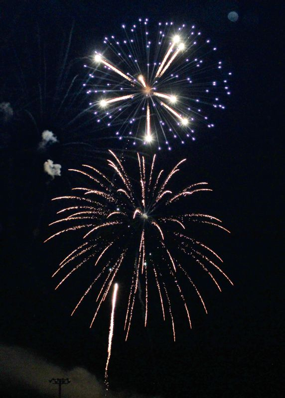 The City of Robinson held their fireworks display Sunday evening at the Robinson City Park. The fireworks drew a large crowd of spectators that came out for the colorful show. Angela Downing | Daily News