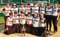 Extreme 16U travel softball, based in Flat Rock, won the high school division at the annual Robinson Firecracker Tournament over Fourth of July weekend, which featured both 16U and 18U teams. Extreme went 6-1 over two days in the 10-team tournament. Team members include: (front L-R) Gracie Stallings (Lawrenceville), Maci Smith (Robinson), Paige Kelly (Robinson), Paige Sanders (Robinson), Makenna Smith (Salem) and Erika Garrard (Robinson). In back are: (L-R) Amber Russell (Newton), Kaylee Ridge (Fort Branch, Ind.), Cadance Brashear (Flat Rock), Austin Fisher (Sumner), Jill Kuhl (Nashville), Ally Sims (Vincennes), Mattilyn Ashley (Vincennes) and Alexis Davis (Robinson). Contributed photo