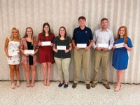 Green Scholarships awarded at Red Hill Jr./Sr. High SchoolThe 21st annual check acceptance ceremony for the Green Family Trust scholarships was held on Aug. 5 at the Red Hill Jr./Sr. High School. The following recipients were in attendance, pictured, from left, are: Maycee Holtz, Ali Andrews, Jeana Buchanan, MaKenna Dunkin, Nicklaus Scherer, Brylee Wells and Lydia Higgins. Recipients not pictured include: Sydney Curts, Grace Hahn and Parker Havill. Each student received the first of two checks for $1,500. For year to date, the total is 140 students with some receiving up to four years, for a sum of $476,200 in 21 years from the Green Family Trust Scholarships. Contributed photo