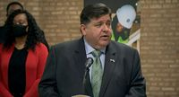 Gov. JB Pritzker announces the investment of more than $40 million in federal funds for workforce training programs throughout the state during a news conference Thursday in Chicago.
