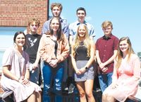 Palestine High School announced their Homecoming kings and queen candidates include (back, from left) Rider Lawhorn, Gavin Postlewaite, Tyler Dennison and Wesley Adams, Halle Piper (front, from left) Stephanie Rudd, Makinley Bonesteel and Krescene Holscher. The coronation will take place during halftime of the PHS football game on Saturday, Sept. 18. The game kicksoff at 1 p.m. against Melrose Park Walther Christian Academy. Angela Downing   Daily News